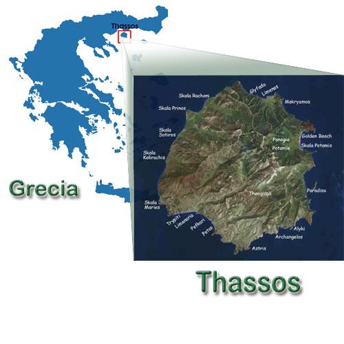 Harta Insula Thassos Grecia Harta Thassos Grecia Harti Insula
