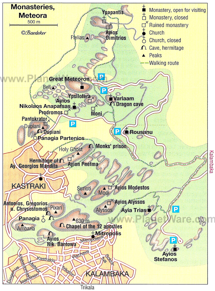 Harta Meteora Manastiri Harta Meteora Manastiri Grecia Harti