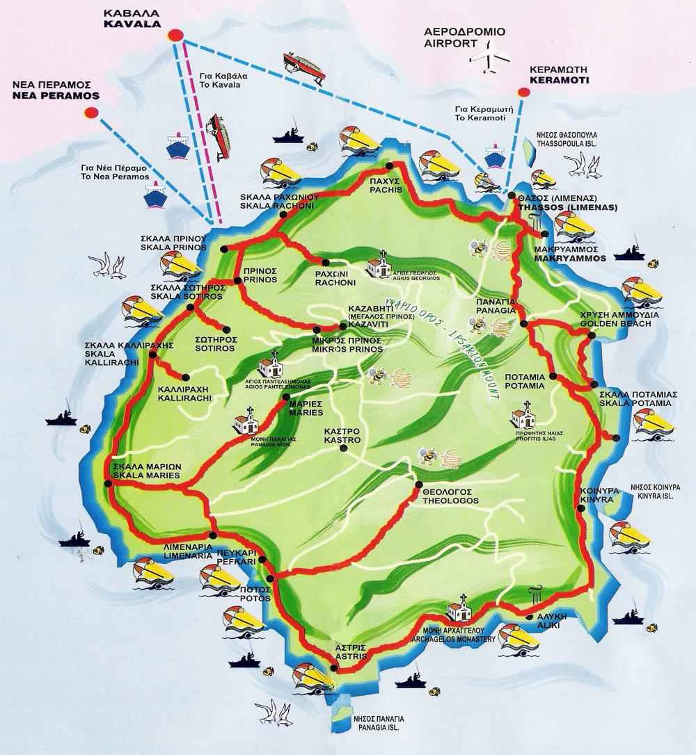 Harta Turistica Lefkada Grecia